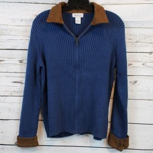 WESTBOUND RIBBED CARDIGAN SWEATER D03